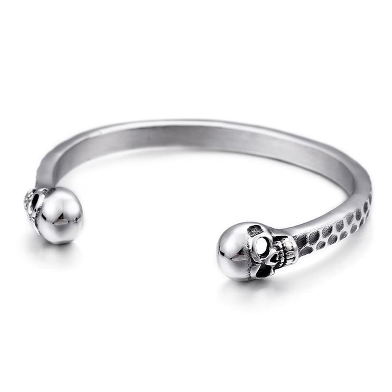 Bracelets en acier inoxydable pour hommes 55*5mm taille intérieure tête de crâne Bracelet pour bijoux de qualité masculine ne se fanent jamais | AliExpress