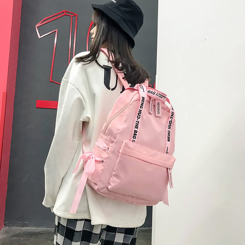 Korean fashion classic college student campus style Harajuku ulzzang backpack outdoor travel backpack large capacity bag Mochila image