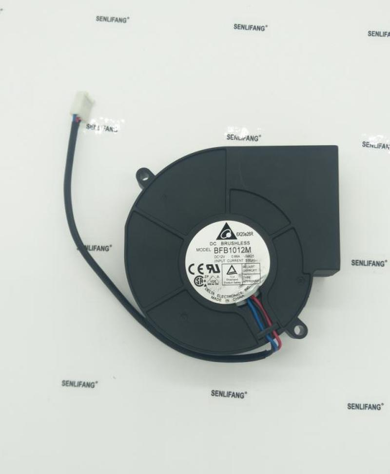 For BFB1012M SM25 DC 12V 0.66A 97x95x33mm 3-Wire Server Cooler Fan