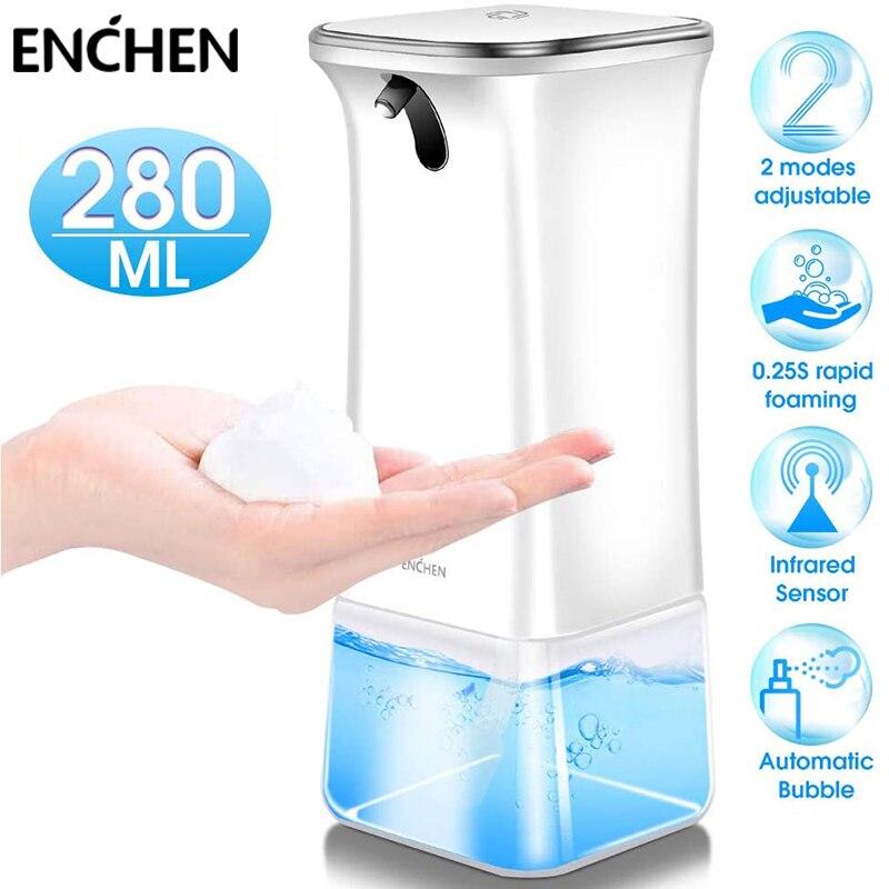 ENCHEN автоматический бесконтактный пена мыло дозатор с инфракрасным датчиком движения 280 мл жидкость мыло дозатор для ванной кухни