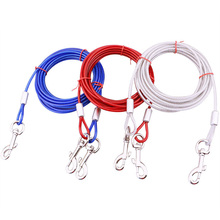Unbreakable Alloy Pet Dog Basic Leash Products For Small Medium Large Dogs Double Heads Outdoor Wire Supplies