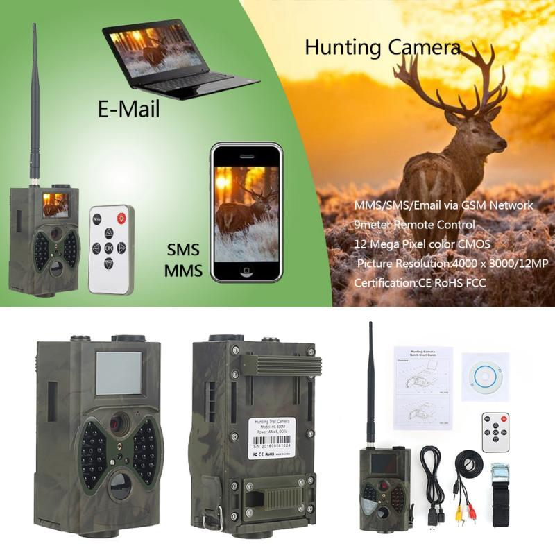 HC-300M Digital Infrared Camera Trail Hunting Video IR Cam 940NM MMS GPRS 12M Trigger Wildlife Camera Surveillance For Outdoor