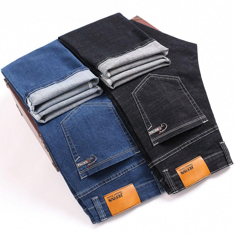 Big Size 28 To 46 High Quality Cotton Stretch Men's Slim Jeans 2020 Spring Brand Clothing Youth Business Casual Straight Pants