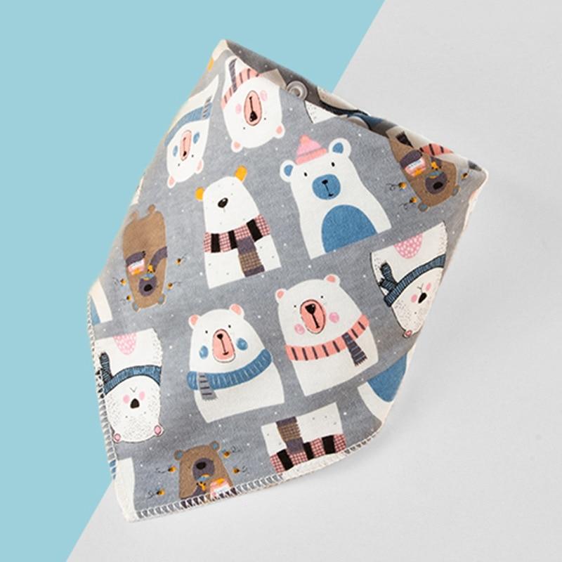 Бандана-нагрудник из хлопка, детская одежда для кормления, треугольная слюнявчик для младенцев, мультяшное слюнявчик, аксессуары для кормления младенцев, детские вещи 1