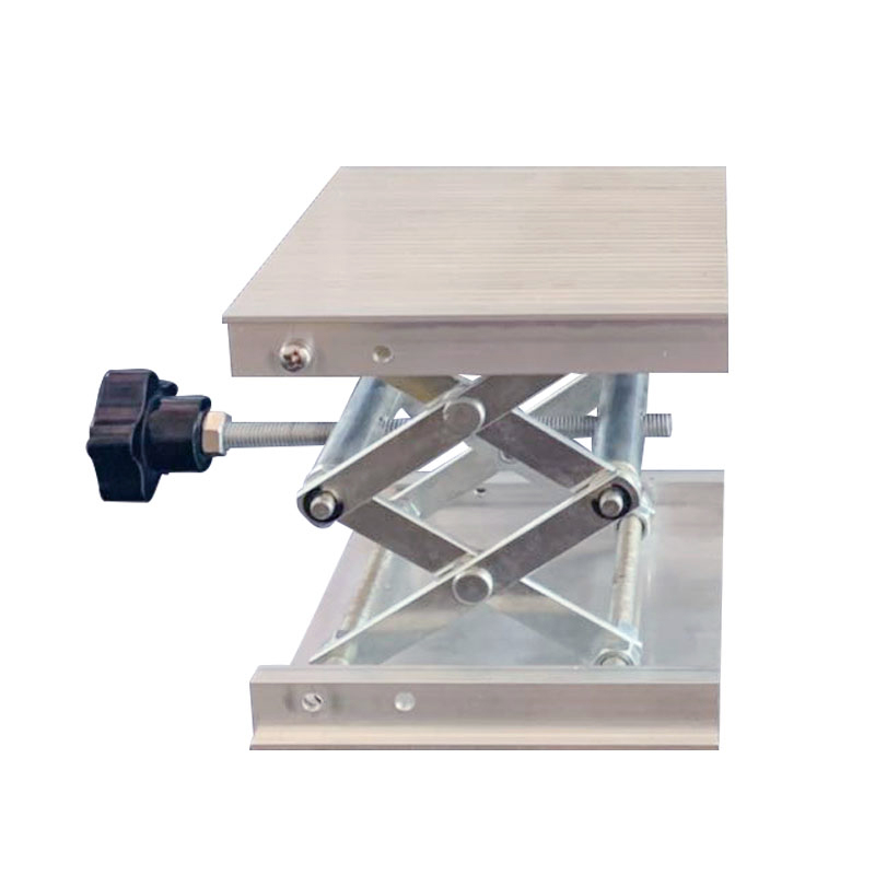 Image 2 - 100x100mm Stainless Steel Adjustable Drill Lift Laboratory Lifting Platform Router Lift Table Woodworking Lab Lifting Stand RackHand Tool Sets   -