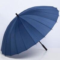 Oversized Dubbele 24 Bone Business Rechte Pole Paraplu Ultra Sterkte Winddicht Wind-Bestendig Regen Paraplu Outdoor Zonnescherm