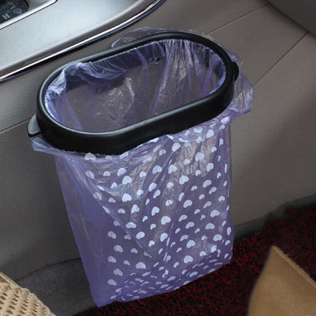1 قطعة السيارات الأسود السيارات القمامة القمامة حقيبة حمل مصاصة حاوية القمامة شماعات رف دعم Hot البيع