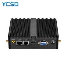 Fanless Mini PC Intel Celeron J1900 J1800 Windows 10 Linuxคอมพิวเตอร์ขนาดกะทัดรัด 2 * Gigabit LAN 2 * RS232 4 * USB 300Mbps WiFi HTPC