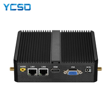 Mini PC sans ventilateur Intel Celeron J1900 J1800 Windows 10 Linux ordinateur Compact 2 * Gigabit LAN 2 * RS232 4 * USB 300Mbps WiFi HTPC