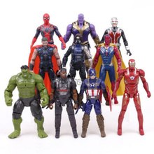Regalo di natale Marvel Avengers 3 Infinity War Action Figure Giocattoli Set Hulk Captain America Spiderman Thanos Iron Man Hulkbuster(China)