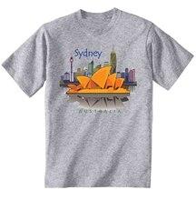 Australia Sydney City - NEW COTTON GREY GREY TSHIRT
