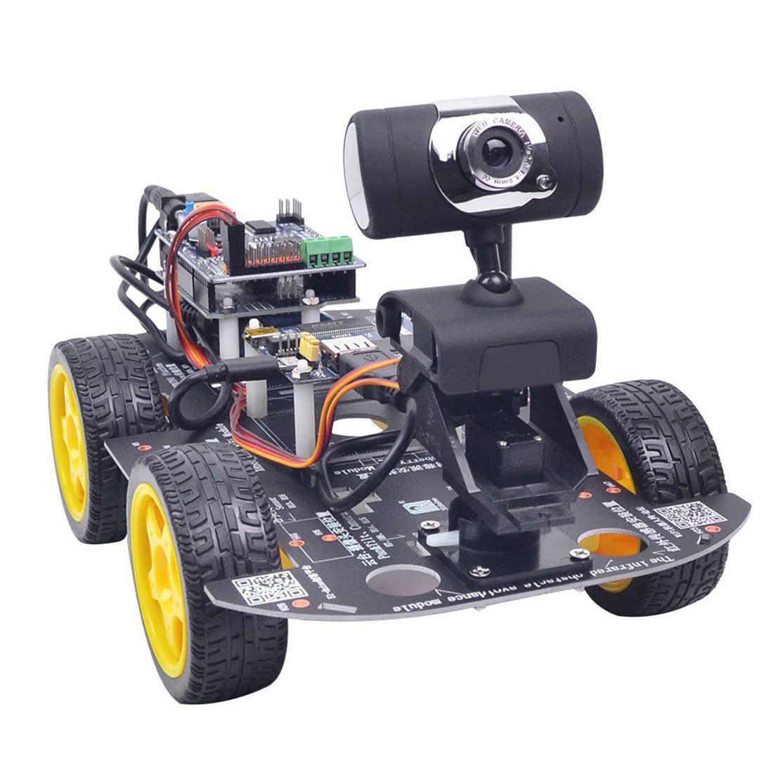 Программируемый робот DIY Wifi паровой обучающий автомобиль с графическим программированием XR блок Linux для Arduino UNO R3 (стандартная версия)