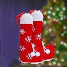 14 дюймов Рождественская конфетка сумка веселый рождественский держатель чулок подарок на шнурке елочные украшения Рождественские украшения Рождественский подарок