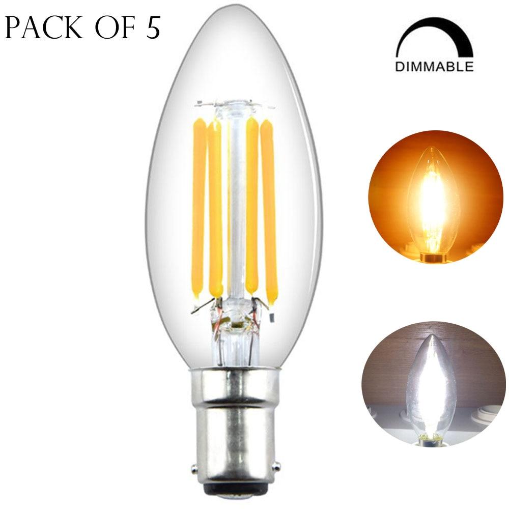 С регулируемой яркостью штык B15 светодиодный Светодиодная лампа 4 Вт C35 Светодиодный лампа-свеча с нитью накаливания 40W лампа накаливания