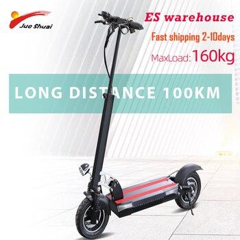 Patinete eléctrico para adultos, Patinete eléctrico de 10 pulgadas, 48V, Motor de 500W, 100KM de larga distancia