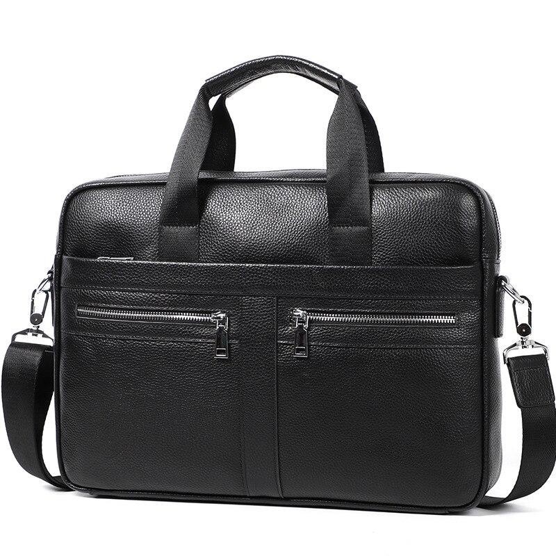 Vintage Man Leather Bag Briefcase Genuine Leather Laptop Bag Handbag Men Business Shoulder Bag Crossbody Bags Men Bolso Hombre