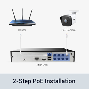 Image 3 - ANNKE 5MP H.265+ Super HD PoE Network Video Security System 4pcs Waterproof Outdoor POE IP Cameras Plug & Play PoE Camera Kit