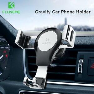 FLOVEME grawitacji uchwyt na telefon samochodowy uchwyt na uchwyt do otworu wentylacyjnego podstawka na telefon komórkowy nie namagnesowany komórek telefon z gps do montażu na stojaku dla iPhone Xiaomi