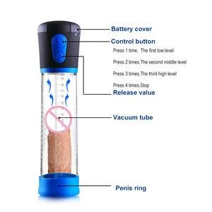 Image 3 - Mężczyzna pompka do penisa dick pump do powiększenia cock elargement extender urządzenie pompy próżniowej dildo masturbator dorosłych zabawki erotyczne dla mężczyzn