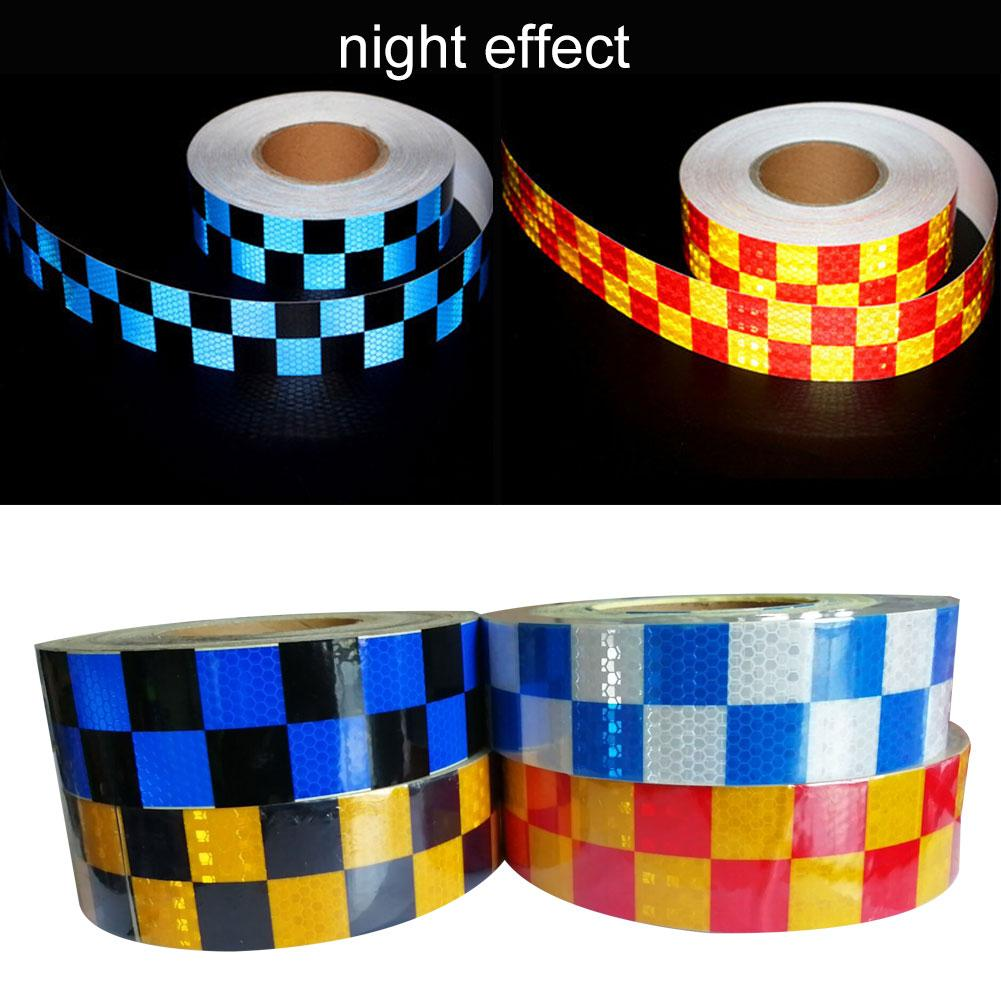 Car Truck Vehicle Traffic Safety Dual Color Grid Reflective Warning Tape Sticker Car Exterior Accessories Sign New Hot Sale 2019