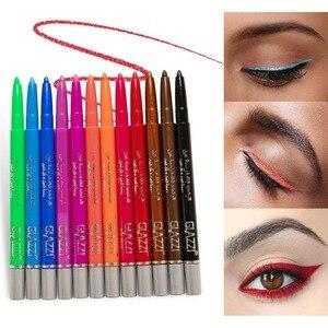 12 Kleuren Eyeliner Set Kleurrijke Neon Groen Wit Matte Eyeliner Potlood Multifunctionele Cosmetica Make-Up Tool Waterproof Eyeliner