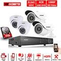 CCTV Камера система DVR 5MP 4CH Full HD 1080 P/2MP HDMI Интерфейс 2 шт. куполообразная миникамера видеонаблюдения, Камера 2 шт. открытый пуля металл-дом Cam