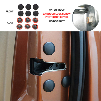 12pcs Car Door Lock Screw Protector Cover For Hyundai Tucson Elantra Creta IX25 Sonata Solaris Santafe Accessories image