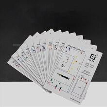 Tapis de vis magnétique de réparation diphone, 17 pièces, pour iPhone 11ProMax  X 8P 8 7P 6 6S 6P 6SP 5 5s 4s 4