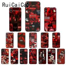 Ruicaica Rose red color theme Novelty Fundas Phone Case Cover for iPhone X XS MAX  6 6s 7 7plus 8 8Plus 5 5S SE XR 11 Pro Max ruicaica marvel avengers widow hulk iron man spider man film phone case for iphone x xs max 6 6s 7 7plus 8 8plus 5 5s se xr 10