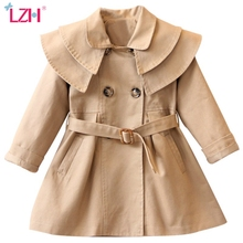 Jacket Trench-Coats Girls Clothes Spring Outerwear Windbreaker Baby-Girls Kids Solid