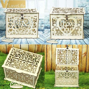 DIY Wooden Wedding Card Lock Box Gift Mo