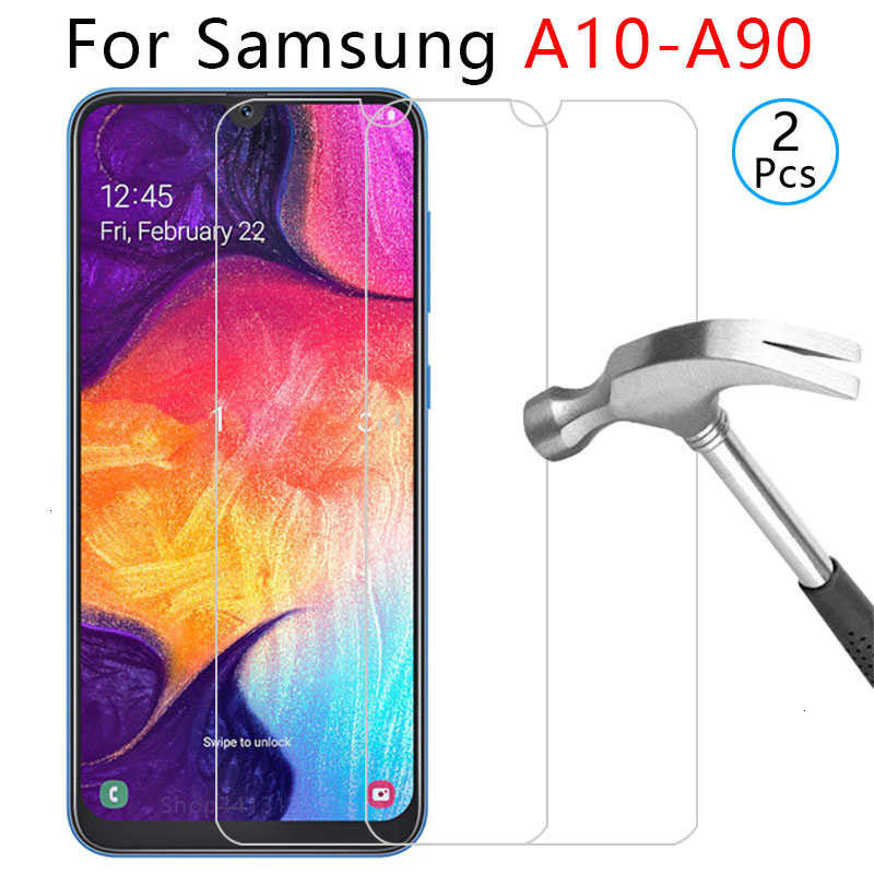 tempered glass phone case for samsung a10 a20 a20e a30 a40 a40s a50 a60 a70 a80 a90 cover Protective shell Accessories on galaxy