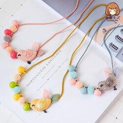 Su esposa pájaro fruta gasa bola caramelo guirnalda princesa collar niños collar accesorios de la tienda de ropa para niños