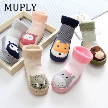 Infant Socks For Baby Warm Booties Sock With Rubber Soles Newborn Toddler Girl Boy Kids Winter Terry Sliper - discount item  39% OFF Baby Clothing
