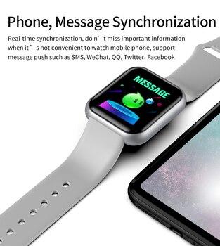Sport Smart Watch Men Women 1.44 Inch Bluetooth-compatible Wristband Fitness Tracker Heart Rate Monitor reloj hombre inteligente 4