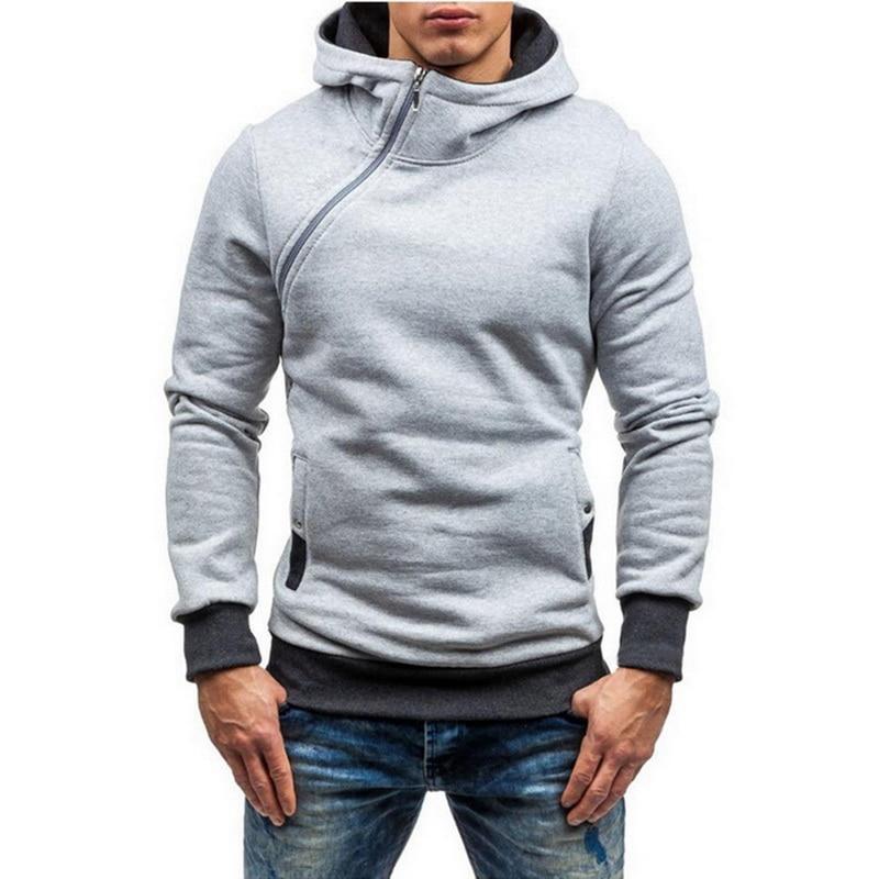 Men Hoodie Sweatshirt 2019 Spring Brand Solid Color Fleece Tracksuit Sudaderas Hombre Hip Hop Male Hooded Sportswear EU Size