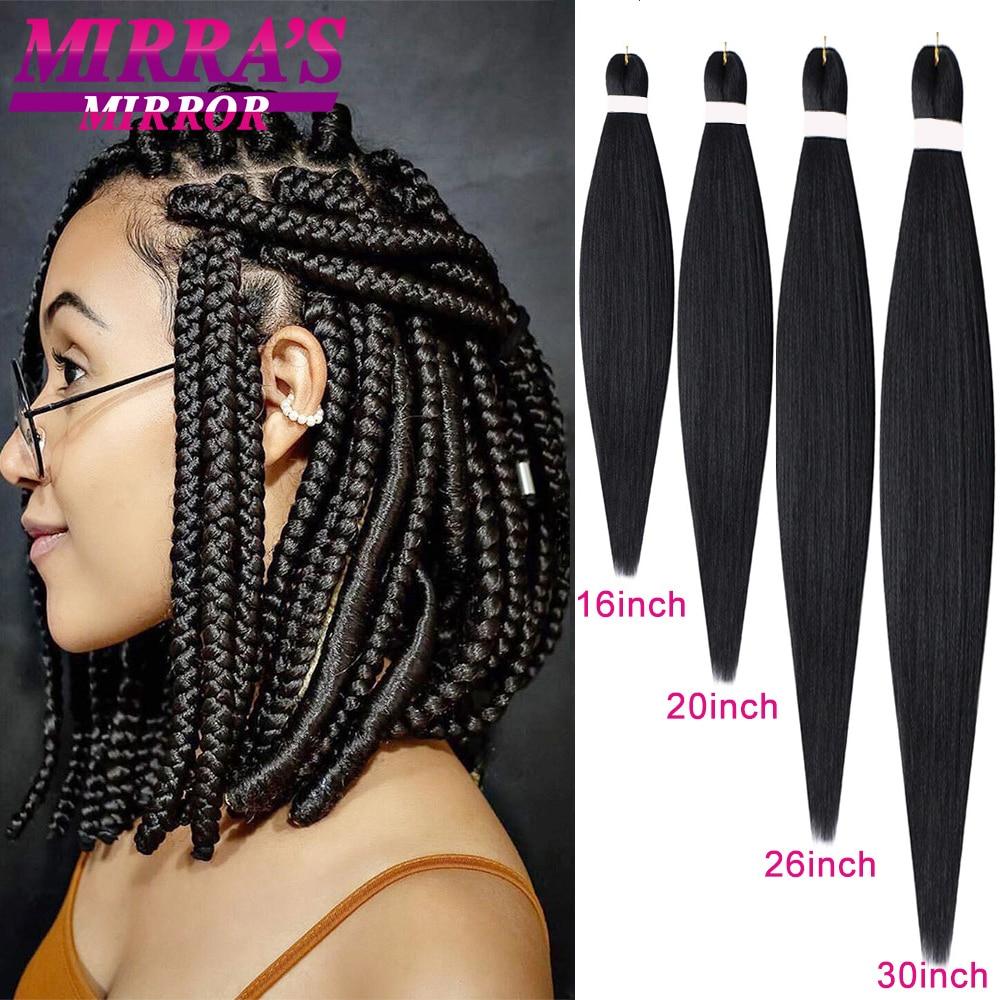Зеркальные легко заплетенные косички Mirra's, накладные волосы, предварительно растянутые плетеные волосы, текстура Yaki, африканские Джамбо пл...