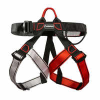 Professional Outdoor Sports Rock Climbing Harness Safety Belt Waist Support Half Body Harness Aerial Survival Equipment