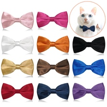 Christmas Cat Dog Collar Holiday Cats Dog Bow Tie Adjustable Neck Strap Cat Dog Grooming Accessories Puppy Cat Necklace cheap CN(Origin) Tie Bow Tie Polyester Cat Neck Tie Pet Grooming Accessories dog tie