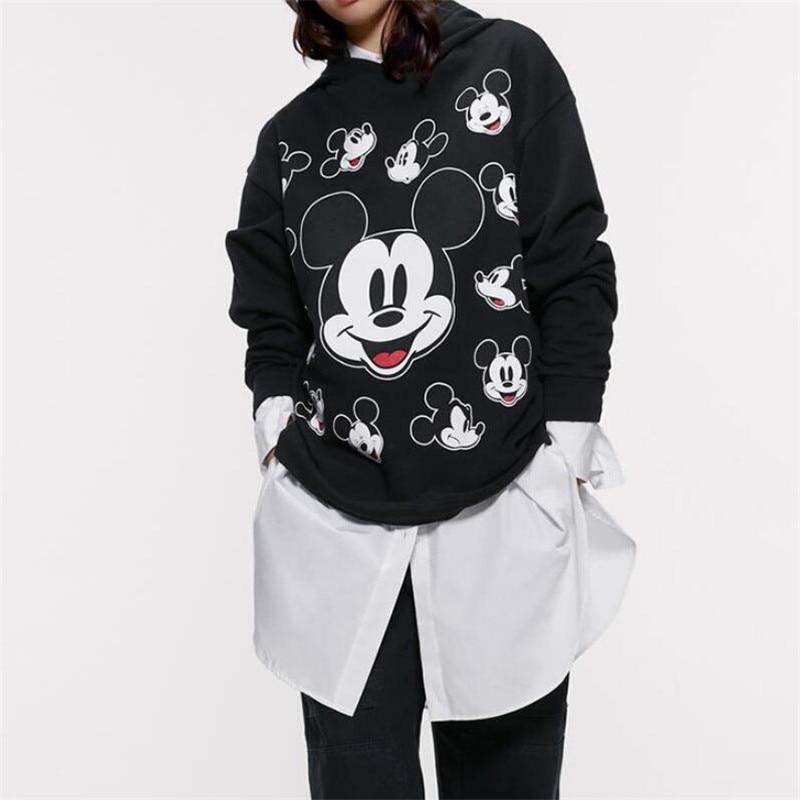 Smiley-Mickey-Black-Hoodies-Long-Sleeve-Tops-Cotton-Sweatshirt-Women-pullover-Sweatshirt-For-Ladies-Hooded-Sweatshirt