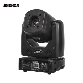 75W Moving Head Spot With 3 Prism Led Gobo Light DMX 10/13 Channel Wash Effect For DJ Party Lrye Stage Disco SHEHDS freeshipping 4x super brightness 75w led stage moving head wash spot 2in1 light 11 degree spot 25 degree 9 x 18w tyanshine 6in1