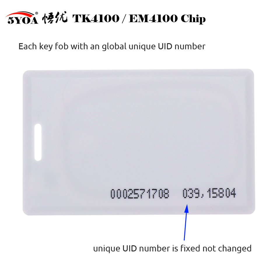 Hf6e2d8b2da32415385bdd55b5246337bd 10pcs 1.8mm EM4100 Tk4100 125khz Access Control Card Keyfob RFID Tag Tags Key Fob Token Ring Proximity Chip