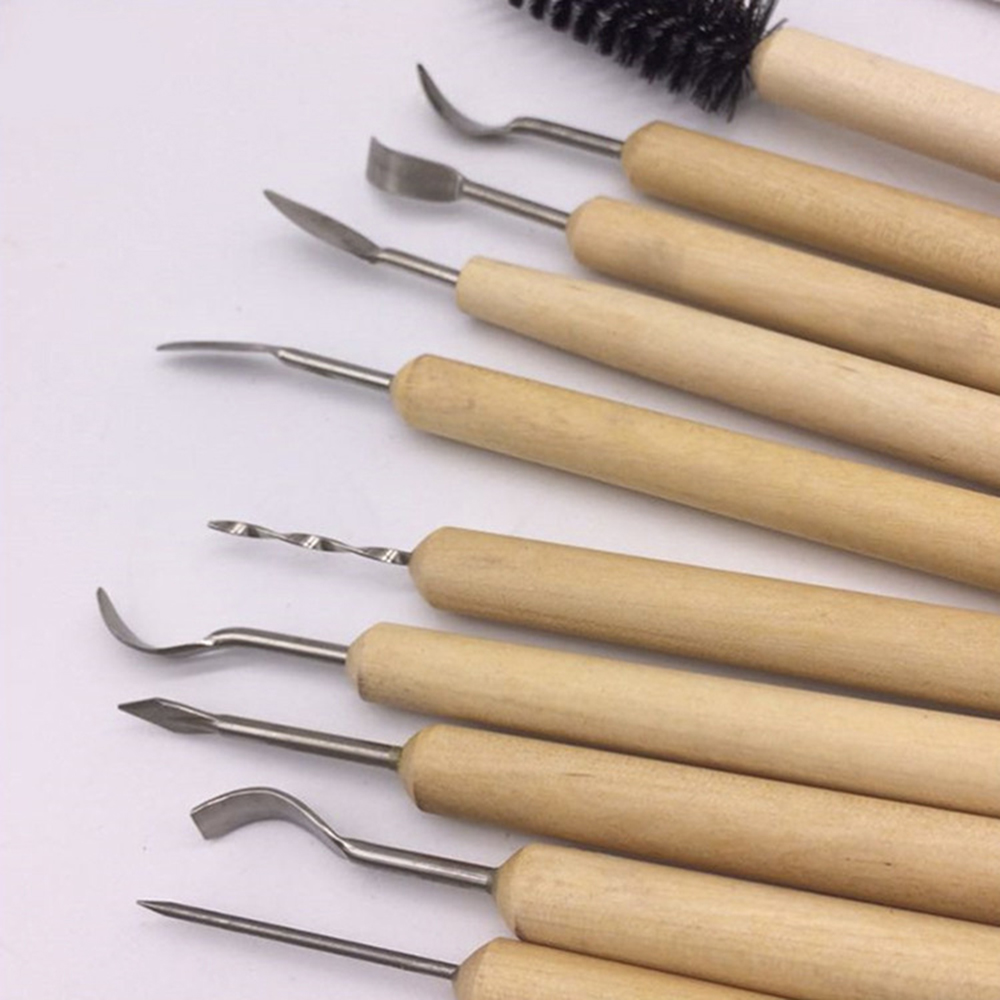 18in1 Ceramic Pottery Tools Set Clay Carving Sculpting Polymer Modeling Tool Kit