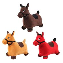 Прыгающая лошадь Хоппер на открытом воздухе кататься на надувных животных играть игрушки подарки для детей тяжелые металлические элементы. Без фталатов