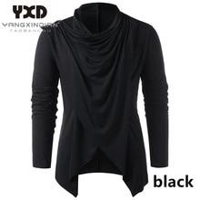Men's Sweater Cardigan Knitwear Men Male Man Casual New Open Shawl Collar Overlap Asymmetrical