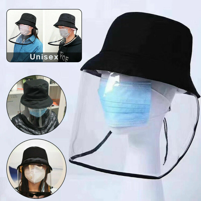Epidemic Protection Hat Anti Saliva Cap Men Women Bucket Hats Face Shield Isolation Face Cover Hats Caps Accessories New