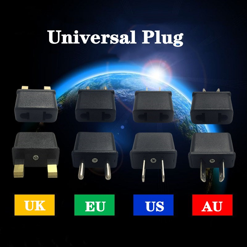 1 Uds. De enchufe europeo, convertidor de enchufe de corriente, adaptador de viaje, toma de corriente Universal, EU AU UK