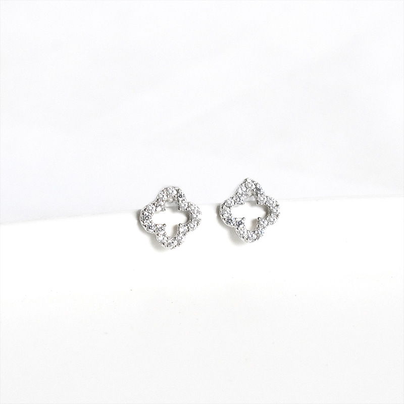 S925 Silver Crown Diamond Stud Earrings//Fashion personality allergic to Japan and South Korea is not easy to mens earrings