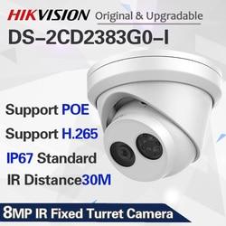 Hik English NEW Video Surveillance POE Camera Outdoor DS-2CD2383G0-I 8MP IR 30m Turret IP Camera H.265+ with 2 Behavior Analysis