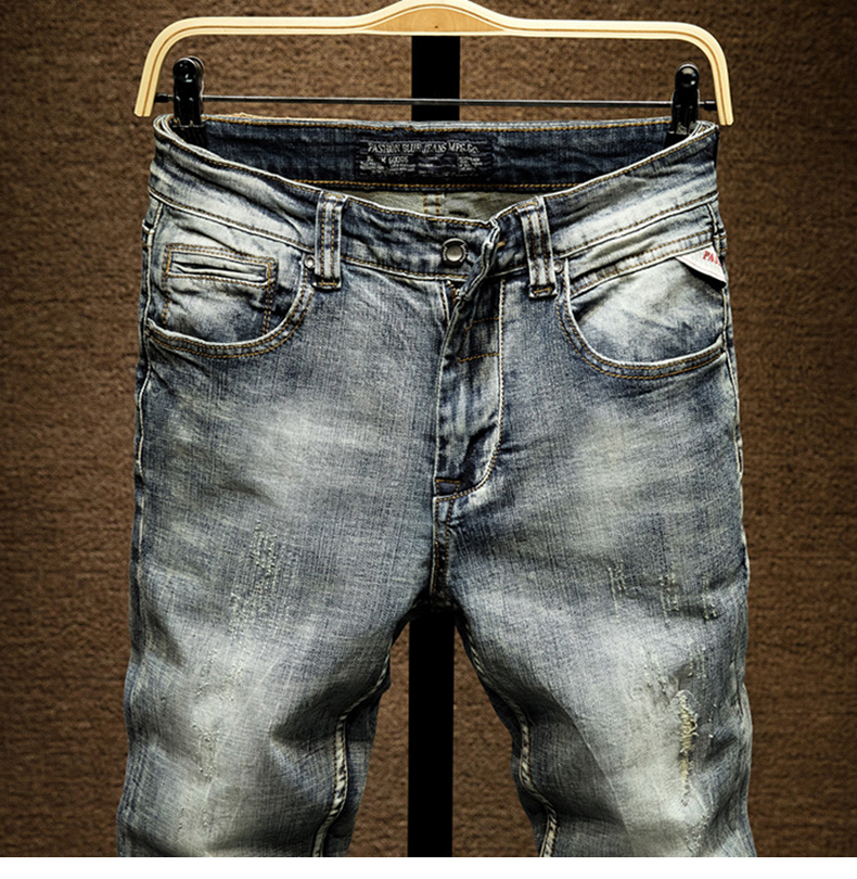 KSTUN Slim Jeans Men Light Blue Stretch 2020 Spring and Autumn Denim Jeans Pants Male Casual Mens Clothing Jeans High Quality Dropship 13